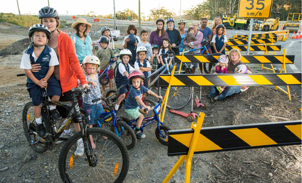 DISAPPOINTED: Residents are disheartened by the lack of progress on a cycleway. TREVOR VEALE