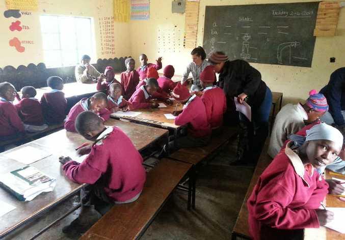 The Mekeu School for mentally handicapped children.