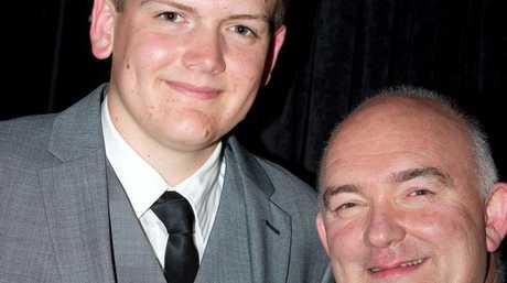 Simon Drew (left) with Aussie jazzman James Morrison at Generations in Jazz.