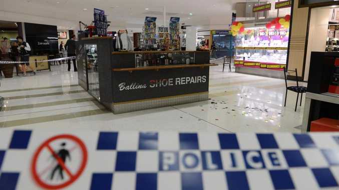 A masked man took a child hostage at knife point this afternoon at Ballina Fair Shooping Centre. Photo Patrick Gorbunovs/ The Northern Star