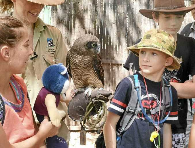 KIDS AND CROCS: Palmwoods State School students on a trip to the Northern Territory.