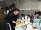 Celebrity chef Poh Ling Yeow conducts a cooking demonstration at Hampton High Country Food and Arts Festival.