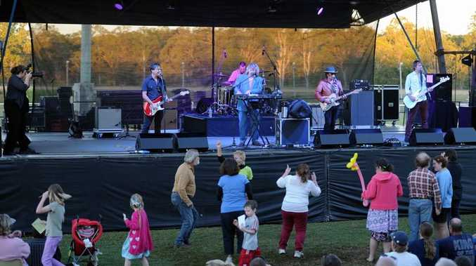 The concert at the Maryborough showgrounds was a great opportunity for families to let their hair down.