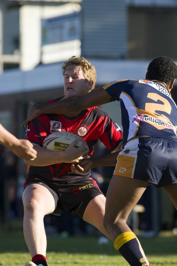 Image for sale: Hugh Sedger for Valleys, Valleys v Highfields, Toowoomba Rugby League A grade at Herb Steinohrt Oval, Sunday, May 19, 2013. Photo Kevin Farmer / The Chronicle