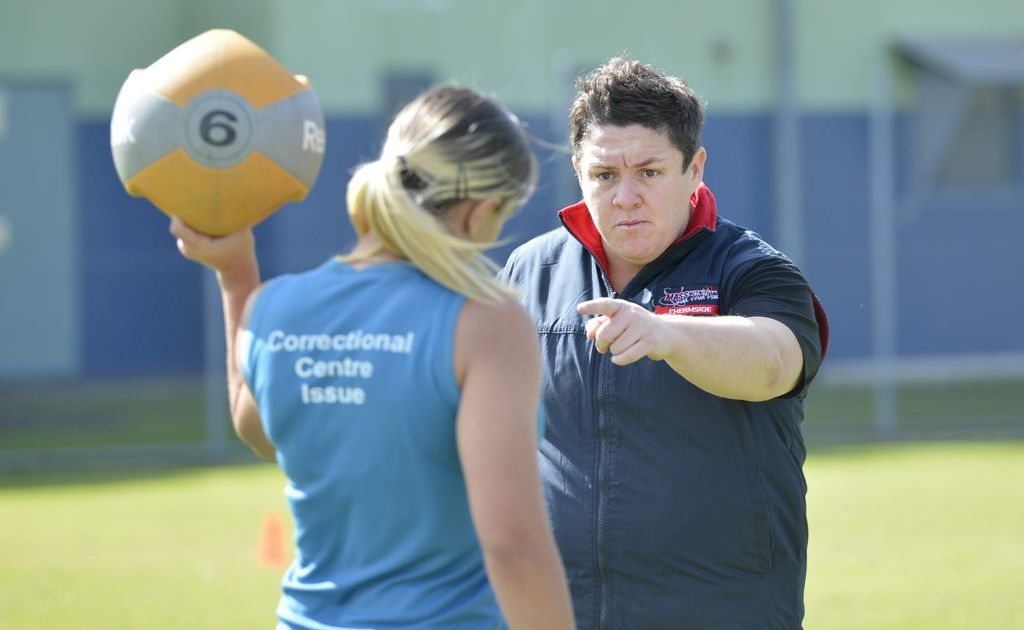 The Biggest Loser 2012 winner Margie Cummins ran a boot camp at the Brisbane Women's Correctional Centre in Wacol yesterday morning.