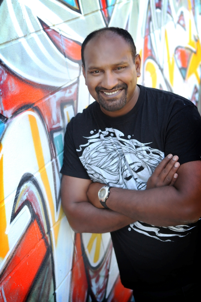 Desh will be one of five comedians performing at Saturday's Comics on the Run fundraiser for Camp Quality.