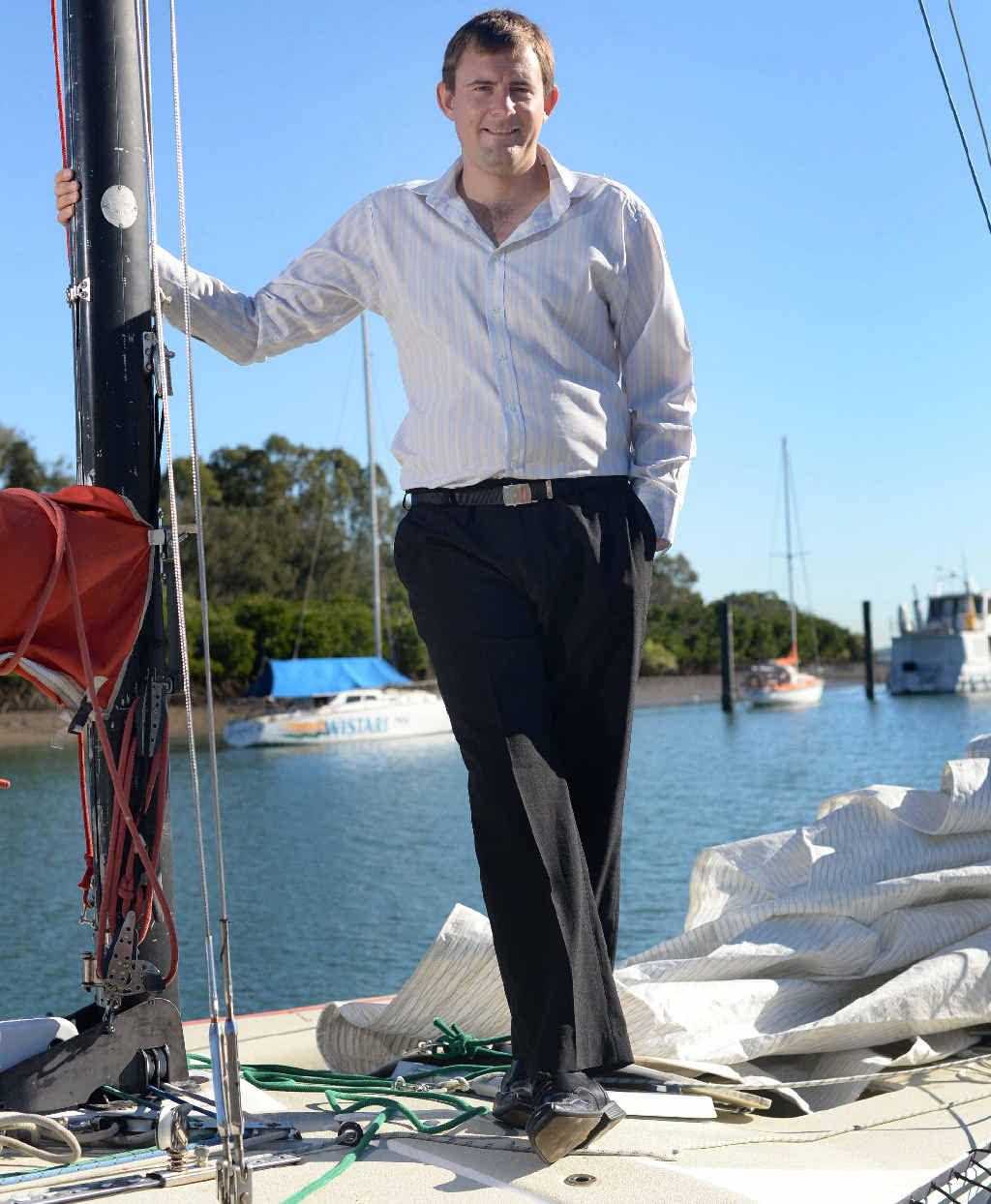 Tony Constance loves life on the water in Gladstone.