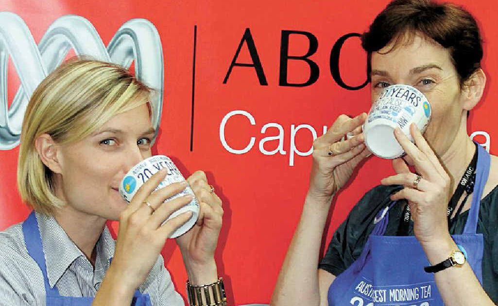 CANCER CUPPA: Cancer ambassador Jacquie Mackay (right) and Cancer Council Queensland's Jessica O'Neill share a cuppa in preparation for Australia's Biggest Morning Tea on May 23.