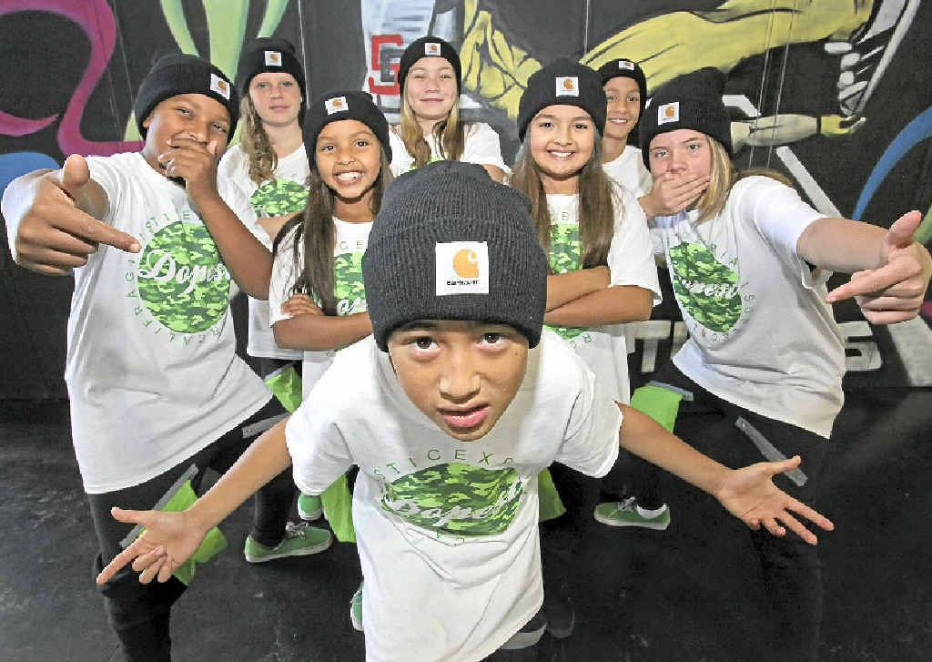 Winston Pratt (front), Ronnie Twidale, Lulu Twidale, Chloe Goudens, Lillee Reeves (middle), Jodi Ward, Amara Pearson-Christensen and Kailan Teneti of Sole Studios will heading to Las Vegas for the World Hip Hop Dance Championships.