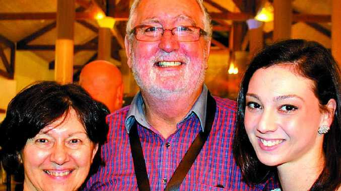 ALL IN THE FAMILY: Erika Adams, left, Michael Adams and Caroline Atkinson, of LJ Hooker Twin Waters, at the national summit at Novotel Twin Waters Resort.