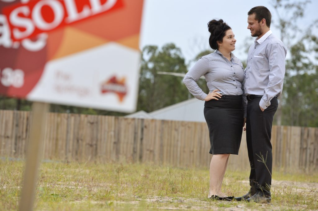 IDEAL LOCATION: Megan and Mitchell Penningh are building a new home in Augustine Heights.