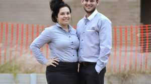 Megan and Mitchell Penningh are building a new home in Augustine Heights. The couple can count themselves in the 70 per cent of Greater Springfield residents who are white collar professionals. Photo: Claudia Baxter / The Queensland Times
