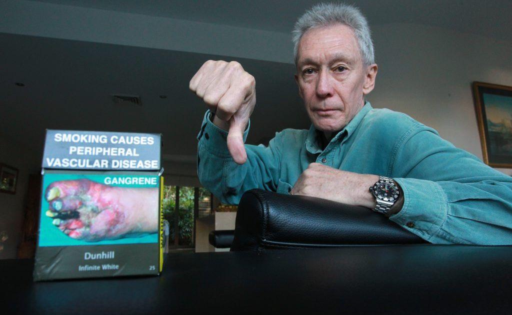 Chris Fletcher warns against smoking.
