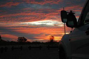 Sunset at Combo Waterhole.