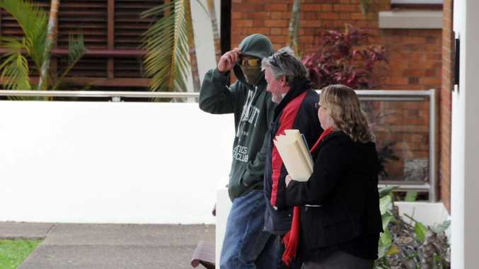 Matthew Robert Wakefield leaves Gympie Magistrates Court yesterday.