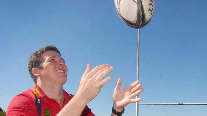 BOOST: Mackay Rugby Union Development officer Peter Firth hopes to increase participation in rugby.
