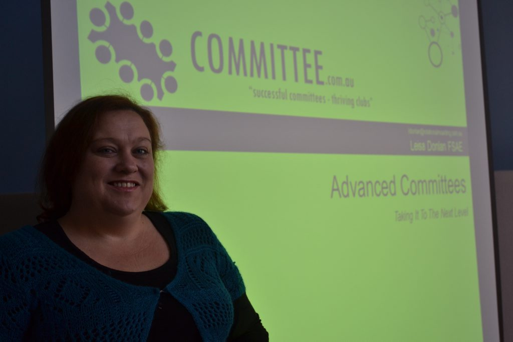 Workshop Presenter Leisa Donlan will discuss club committees, volunteer management and using social media at her free workshops in Emerald.