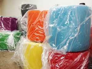 Vibrantly coloured ottomans have arrived for USQ Fraser Coast's new library.
