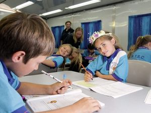 School of travelling show children finally get to class