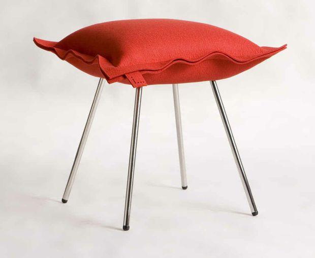 Red i-stool, designed and made in Brisbane, $495, Deka Designdekadesign.com.au