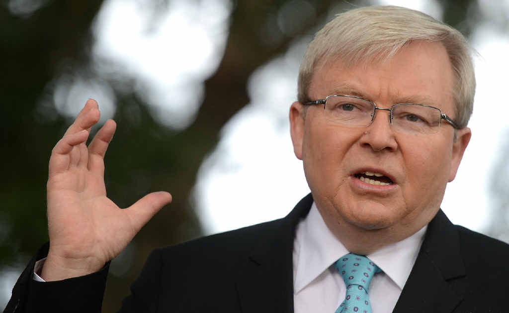 Kevin Rudd is urging Labor to fight for an election win.
