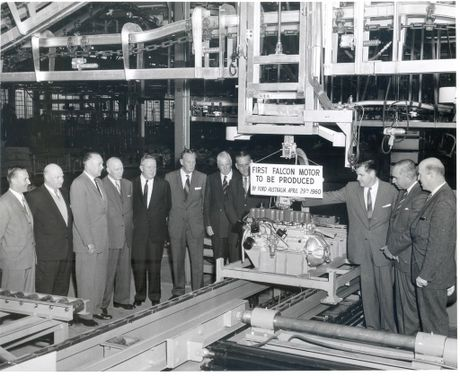 The first Falcon motor to be produced April 29, 1960.