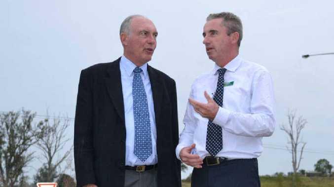 UPGRADE PLEDGE: Nationals Leader Warren Truss and Nationals candidate for Page Kevin Hogan.