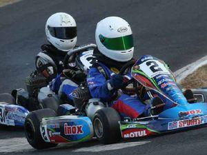 13yo kart racer Harrison Oddie beats the 'oldies'