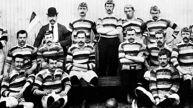 SPORTING HISTORY: The British Lions before the game against Queensland in Brisbane on August 18, 1888. A spot has been left empty in honour of team captain Bob Seddon, who died in an accident during the tour. INSET: Author Sean Fagan.