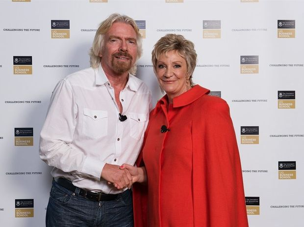 Rockcote director Chris Cameron meets Richard Branson at the UQ NEXT Future of Business event (May 2013).