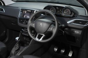 Inside the Peugeot 208 Allure Sport.