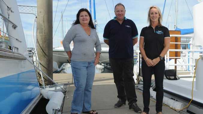 Hervey Bay whale watching identities Jill Perry, Jason Brigden and Vicki Neville.