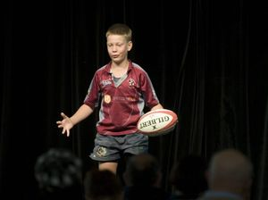 William scoops up award in his first performance