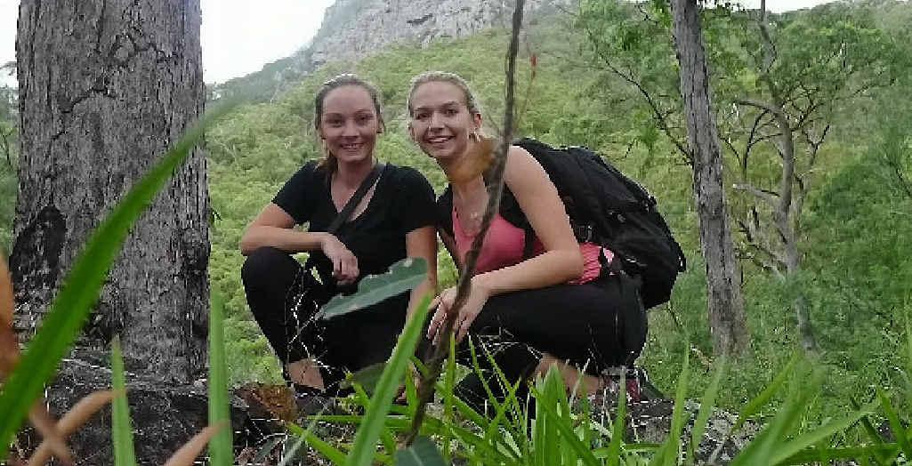 Reporters Rebecca Davis (left) and Rebecca Danslow.