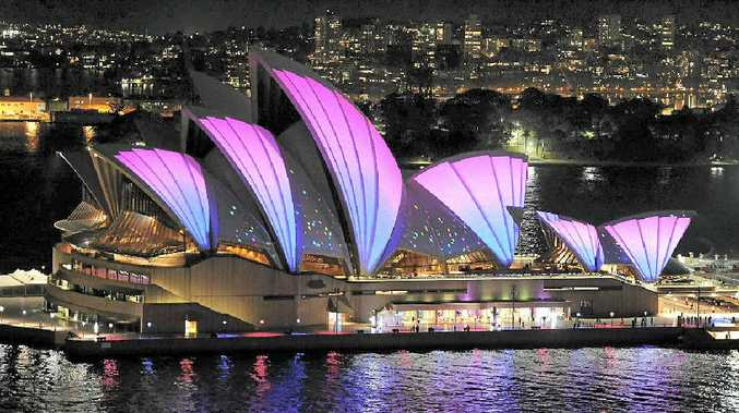 The Sydney Opera House puts on a pretty face for Vivid.
