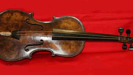The violin which was played by Wallace Hartley on the sinking ship in 1912.