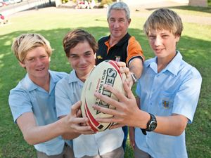 Three rugby amigos outdoing their sporting dads
