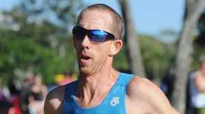 Hervey Bay Triathlon - Steven Schofield on the run leg.