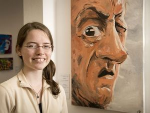 Artistic teenager wins with her first portrait