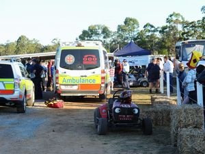 Show's racing lawnmower crash under investigation