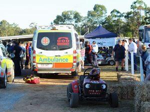 Racing mower crashes into spectators