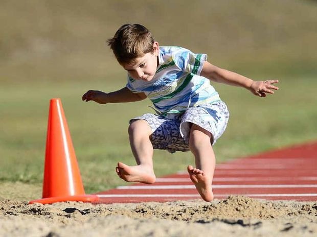 Che Bricknell-Lehmann, 5, at the Jump-4-Indie fundraising event at Limestone Park.