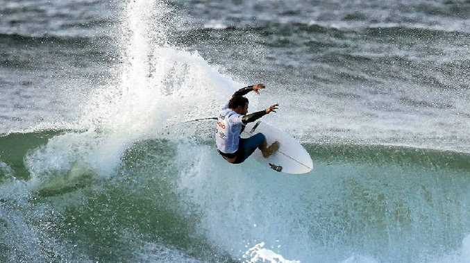 Coolangatta's Nick Vasicek en route to winning the Sunshine Coast Pro at Coolum on Sunday.