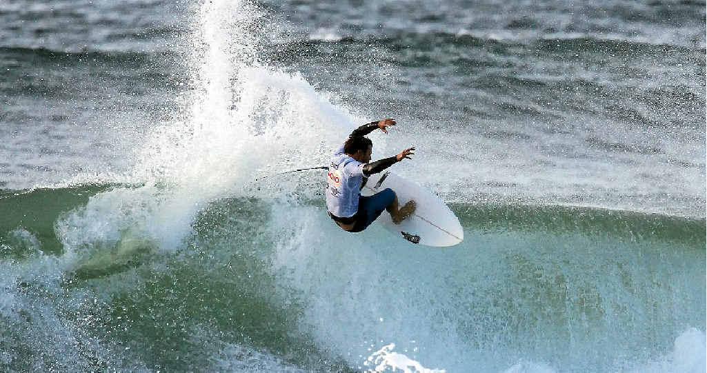 Coolangatta's Nick Vasicek en route to winning the Sunshine Coast Pro at Coolum on Sunday.