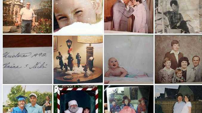 REACHING OUT: A screen grab of some of the found photos on the Facebook page.