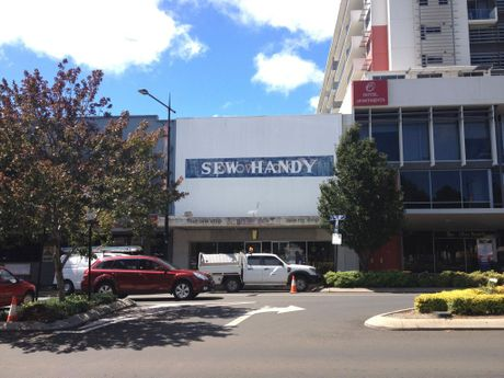The old Sew Handy building will be replaced with a laneway.