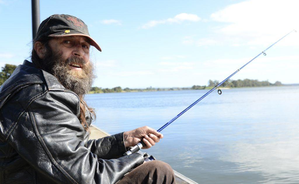 Stanley John Rowles was fishing at the South Grafton pontoon on Saturday morning. Photo Debrah Novak / The Daily Examiner