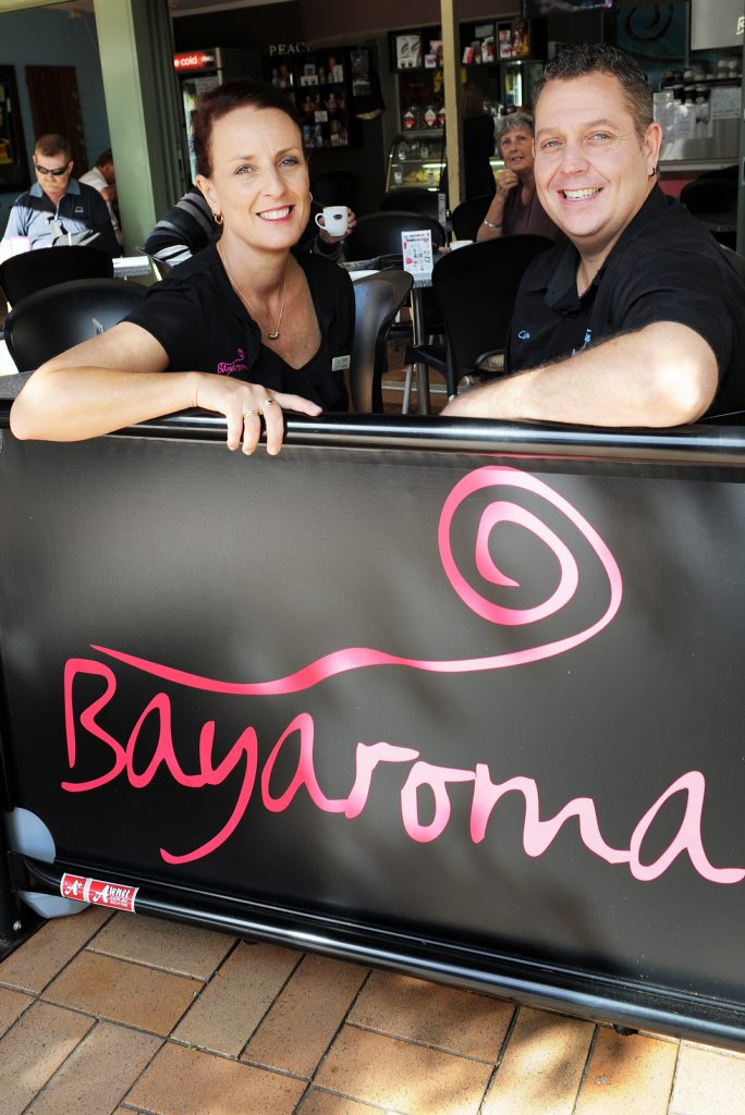Kerry Darlington-Day and Cameron Day of Torquay's Bayaroma Cafe have won a TripAdvisor certificate in Excellence for outstanding performance.