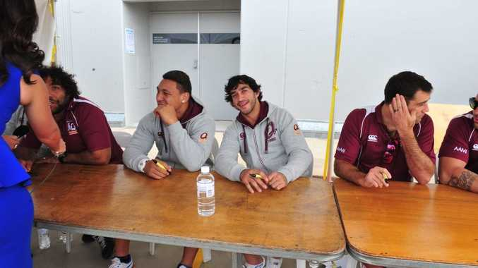 ALL SMILES: Footy great Johnathan Thurston turns on the charm for the camera at the Hinkler Central reopening celebrations. Photo: Vanessa Marsh
