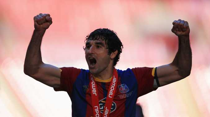 Mile Jedinak of Crystal Palace celebrates victory after the npower Championship Play-off Final match between Watford and Crystal Palace at Wembley Stadium on May 27, 2013 in London, England.